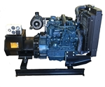 30kW Bare Bones OEM Generator with Kubota Diesel Engine and analog controls.
