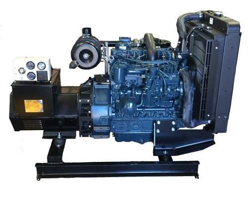 AGK-40-Bare Bones OEM Open Frame Kubota Turbocharged Diesel Generator with  analog controls  Compact Package at a compact price
